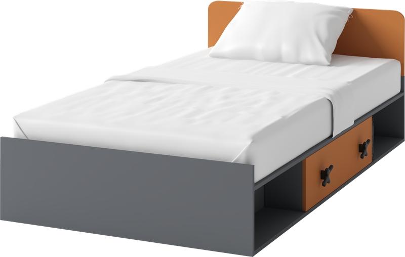 Jednolôžková posteľ 90 cm Iks X-16 (s roštom a matracom)