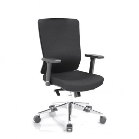 Rauman Kancelárska stolička Vella, čierny sedák aj opierka chrbta VELLA BF B15