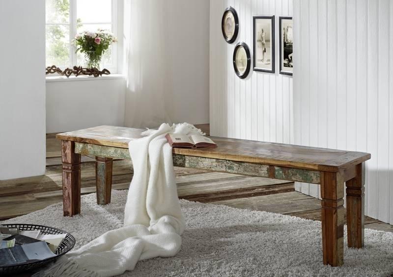 SPIRIT lavica #37 - 200cm lakované staré indické drevo