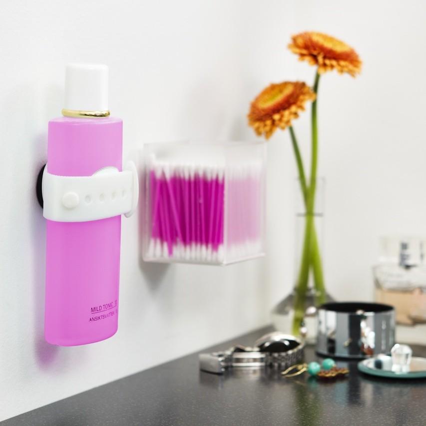 Biely magnetický držiak na šampón či sprchový gél Reenbergs