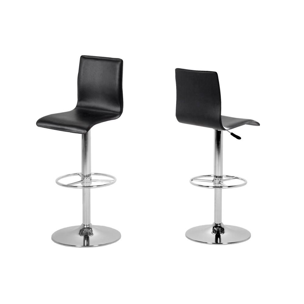 Sada 2 čiernych barových stoličiek Actona Aze