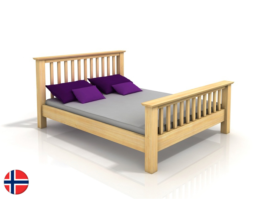 Manželská posteľ 180 cm Naturlig Leikanger (borovica) (s roštom)