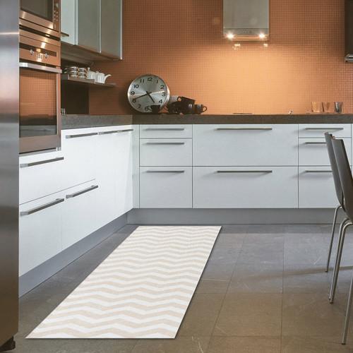 Vysokoodolný kuchynský koberec Webtapetti Optical Beige, 60 x 220 cm