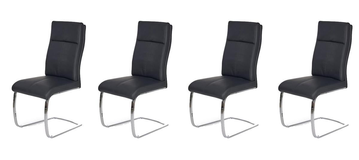 Set 4ks. jedálenských stoličiek K231 (čierna) *výpredaj