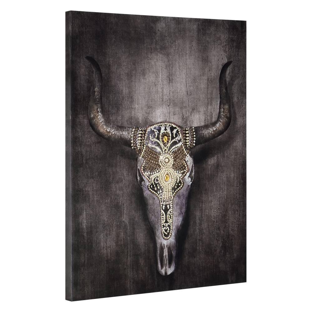 [art.work] Dekoratívny obraz na stenu - býk - plátno napnuté na ráme - 80x60x3,8 cm