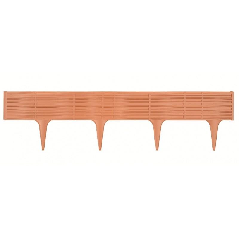 Trávny lem String terakota, 390 cm