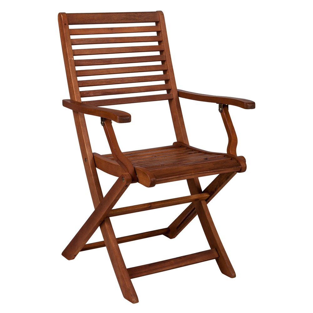 Skladacia stolička z akáciového dreva Crido Consulting Acacia