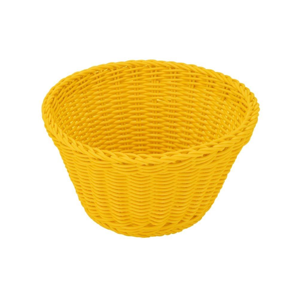 Žltý stolový košík Saleen, ø 18 cm