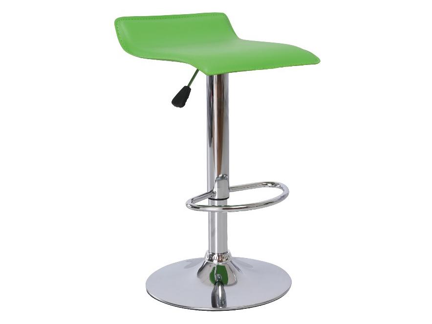Barová stolička Laria (zelená + chróm)