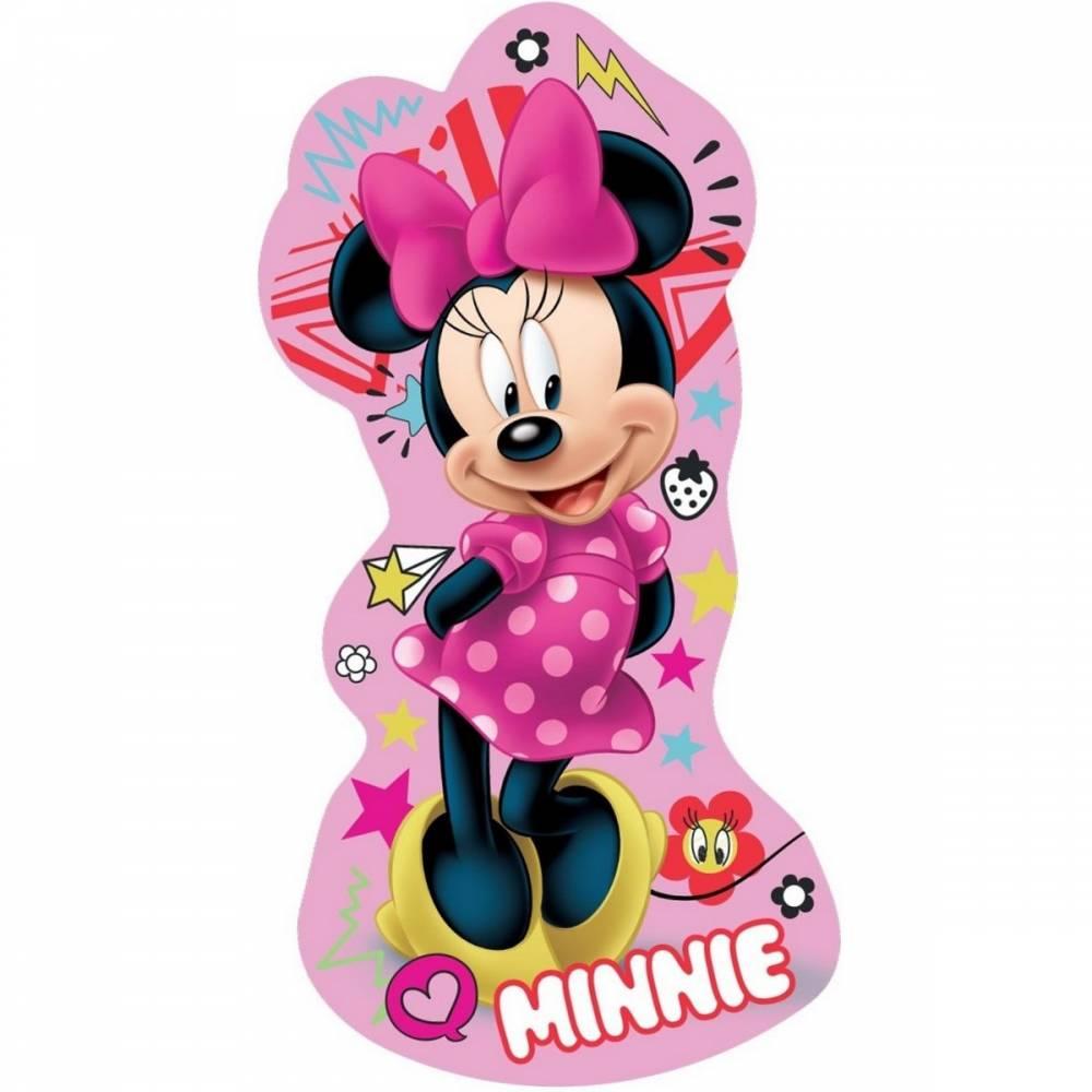 Jerry Fabrics Tvarovaný vankúšik Minnie pink, 34 x 30 cm