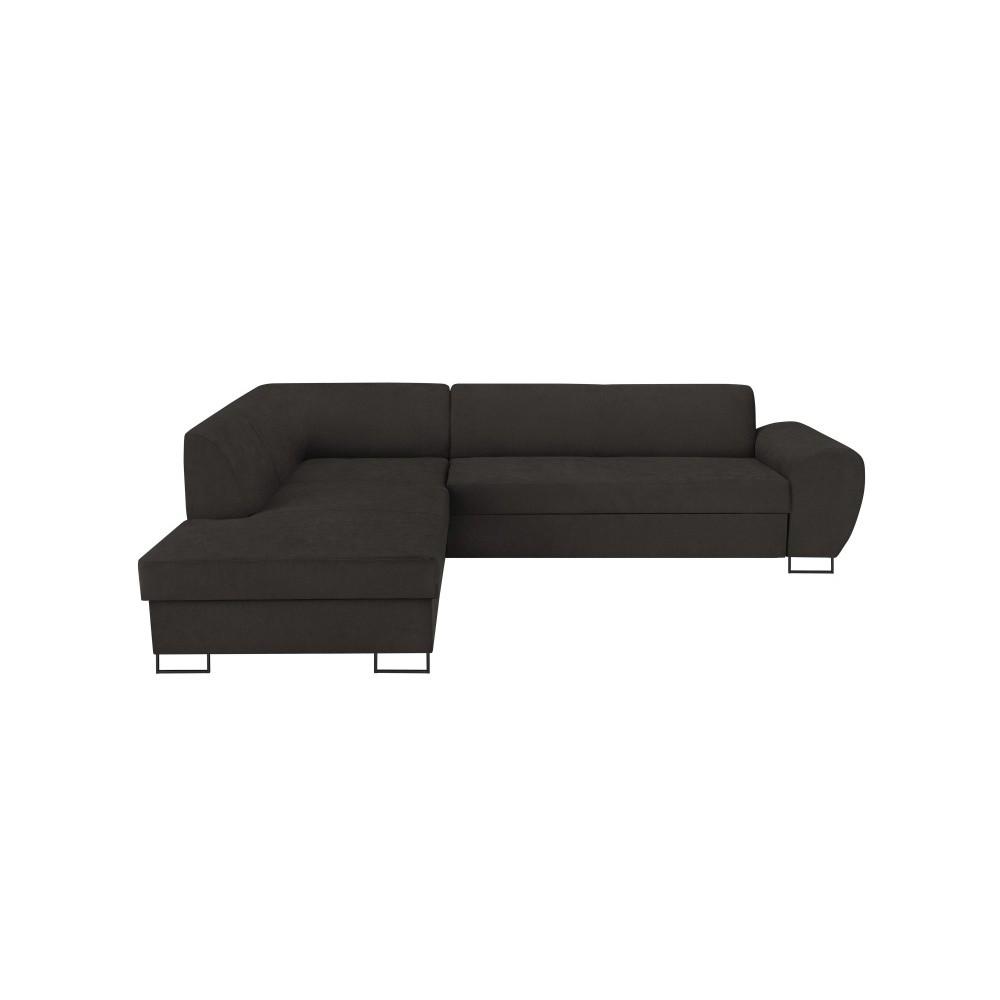Tmavosivá rohová rozkladacia pohovka s úložným priestorom Kooko Home XL Left Corner Sofa Puro