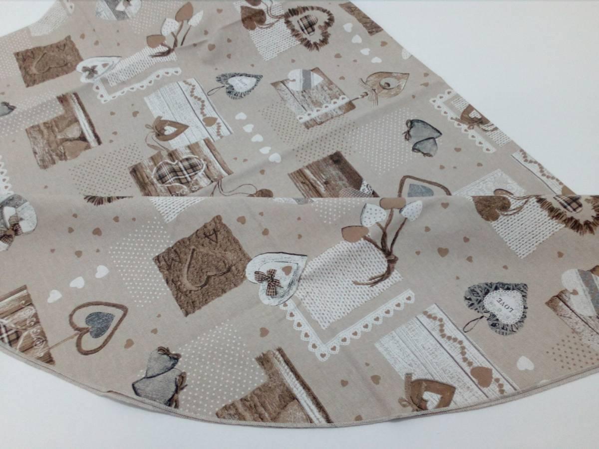 Bavlnený okrúhly obrus hnedý TT01