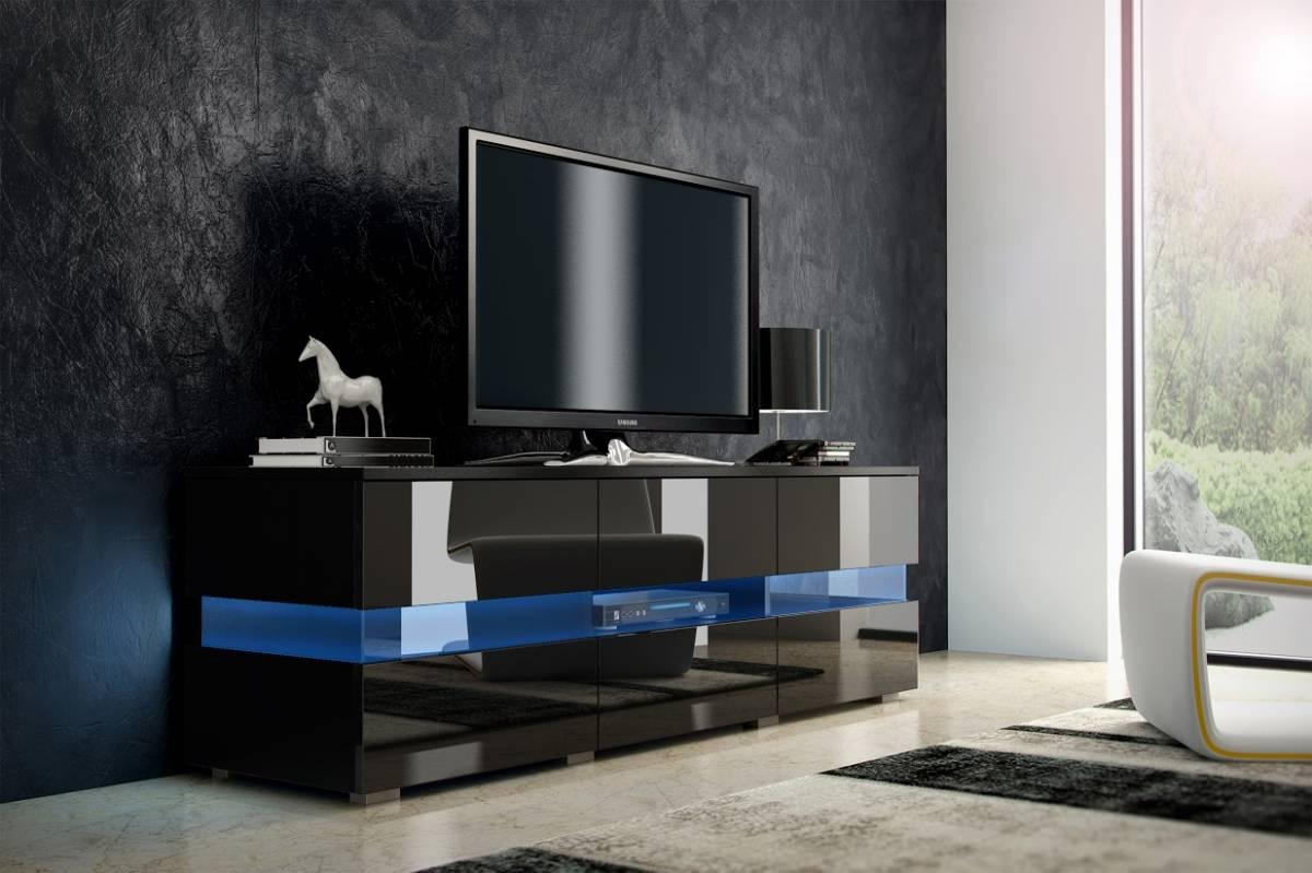 TV stolík Inter čierna + lesk čierny