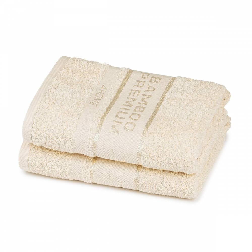 4Home Bamboo Premium uterák krémová, 50 x 100 cm, sada 2 ks