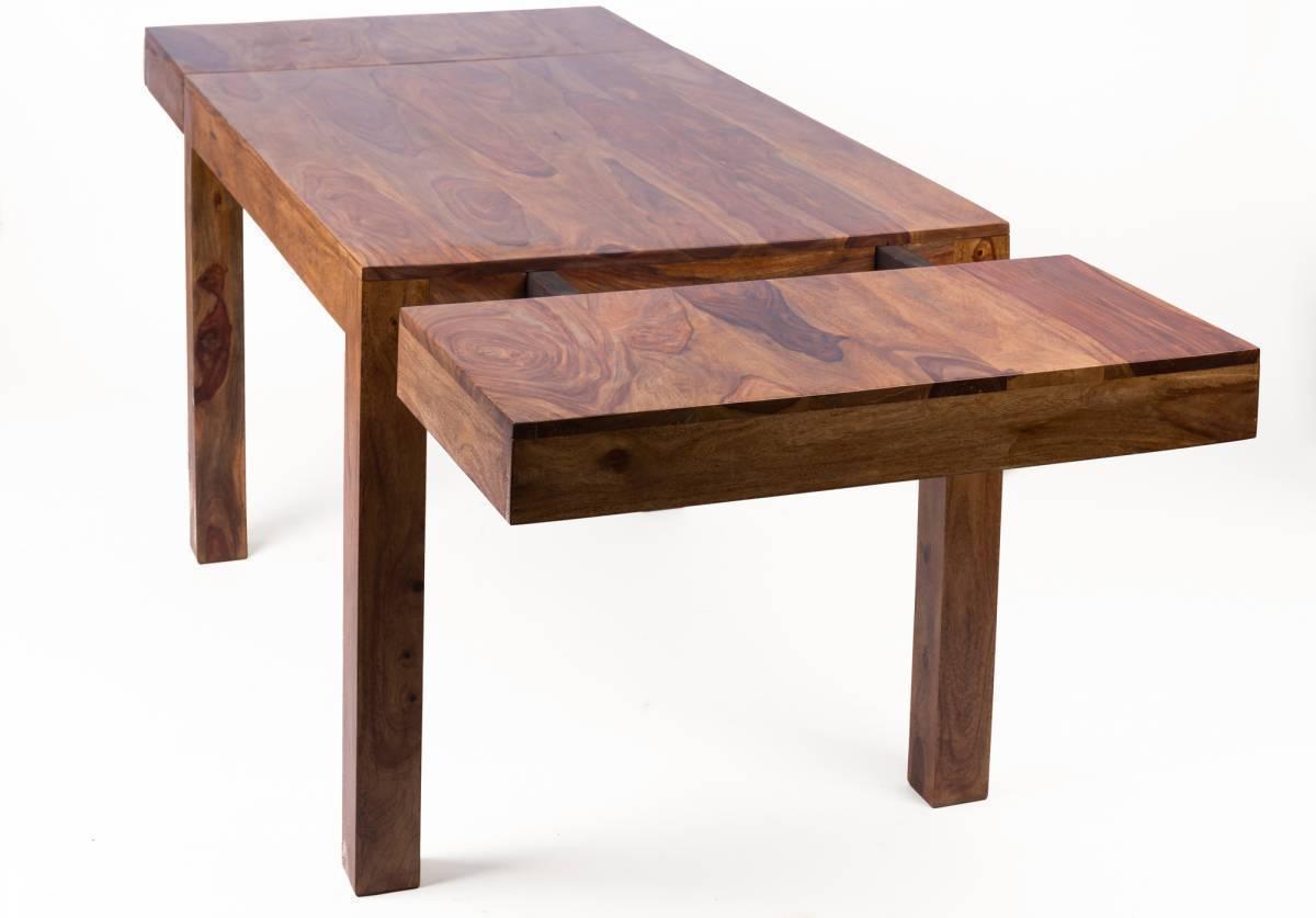 Masívny jedálenský stôl MARAGOS 160-240x100 cm - prírodná