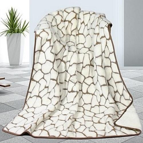 Bellatex Vlnená deka DUO Caschmere Kamene, 155 x 200 cm