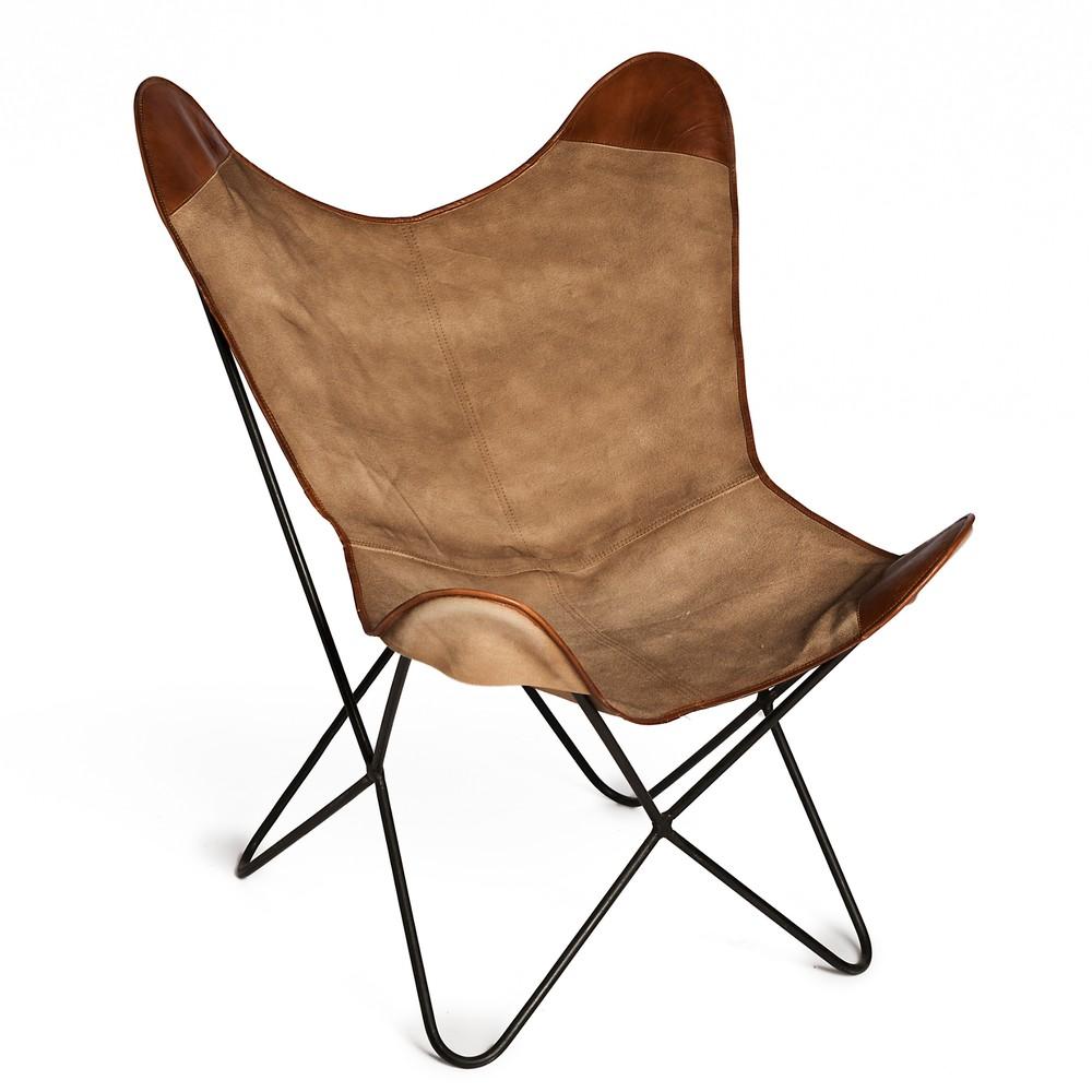Hnedá stoličky z plátna Simla Butterfly
