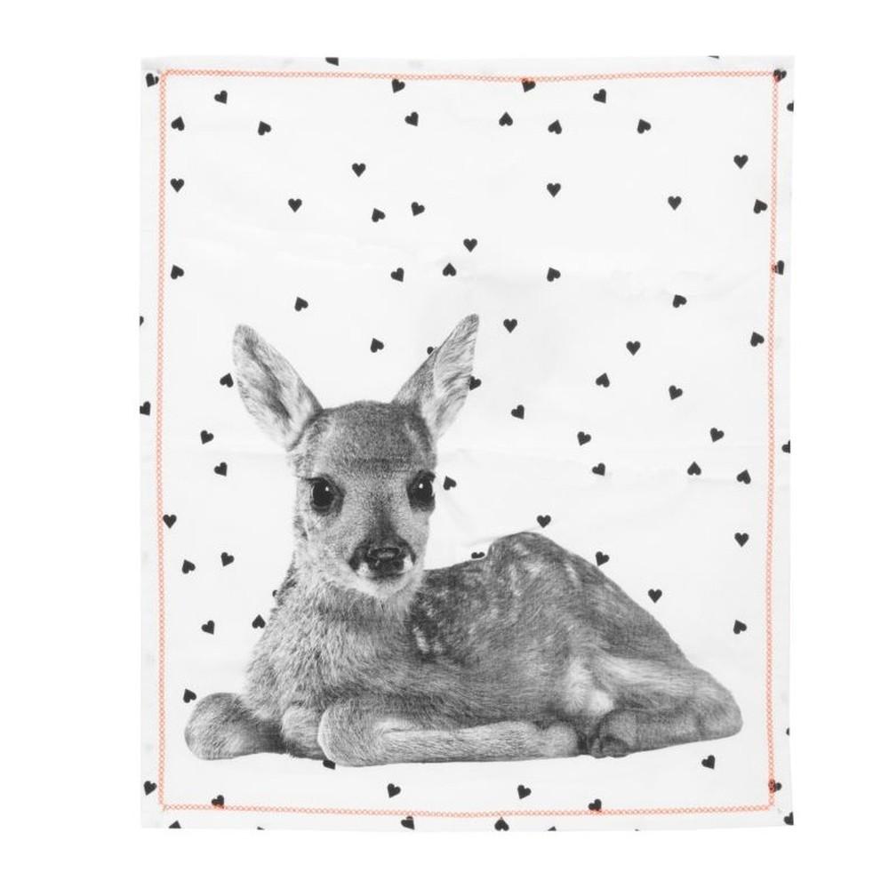 Kuchynská utierka Present Time Hearts Deer, 50x70 cm