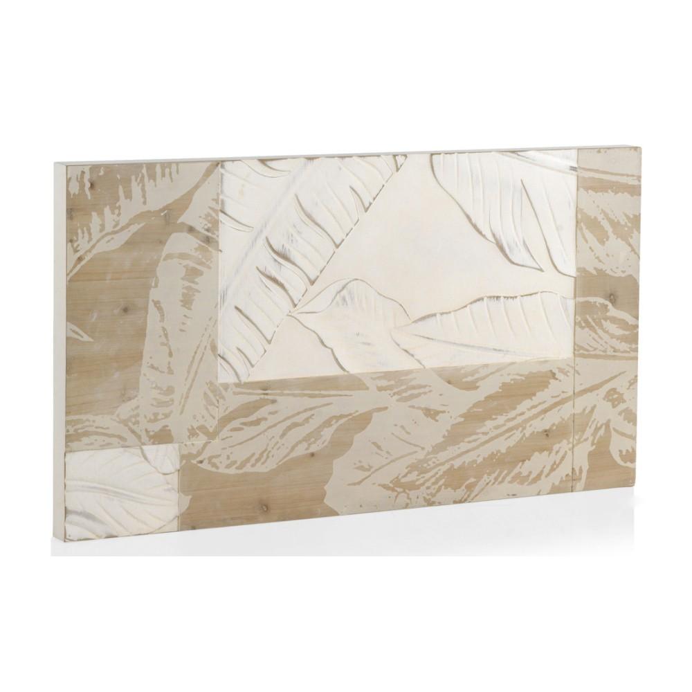 Biele drevené čelo postele Geese Naturall, 110 x 60 cm