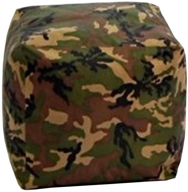 Sedací taburet CUBE army