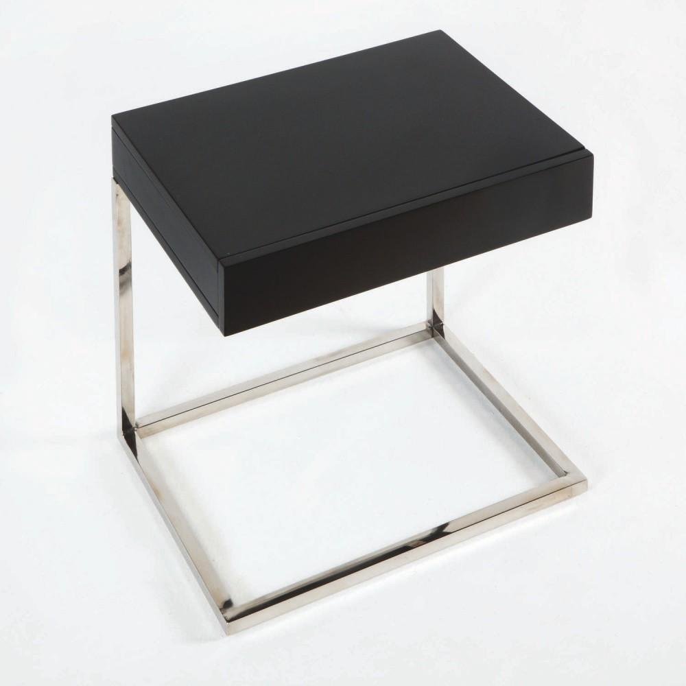 Nočný stôl s čiernou doskou Thai Natura Man