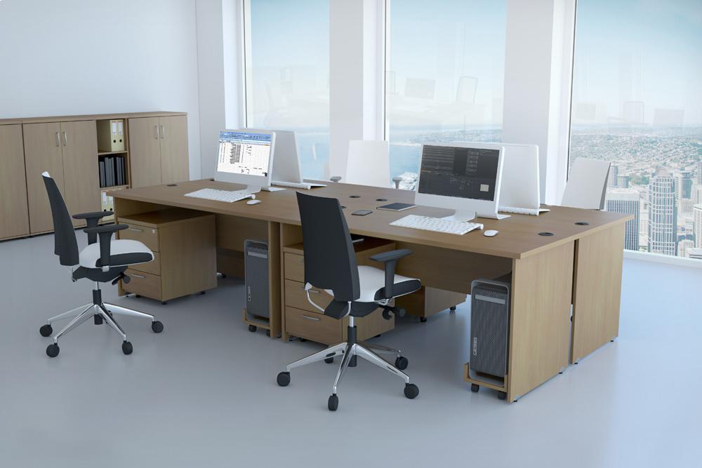 Rauman Zostava kancelárskeho nábytku Visio 1 calvados R111001 03