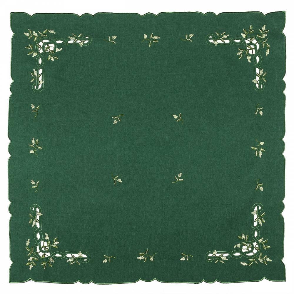 Forbyt Vianočný obrus imelo zelená, 85 x 85 cm