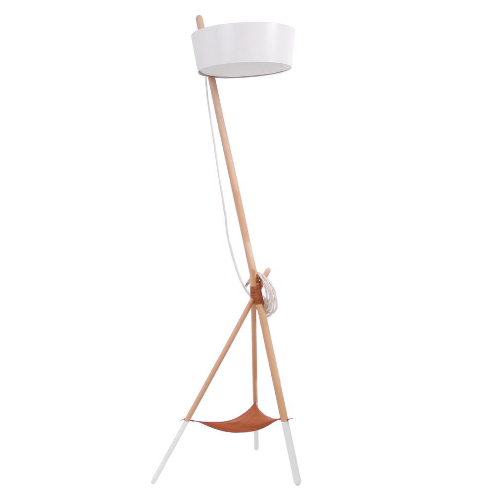 Biela voľne stojacia lampa s odkladacím priestorom Woodendot Ka Large