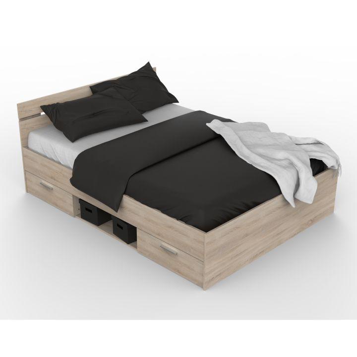 Manželská posteľ 160 cm Michigan (dub sonoma)
