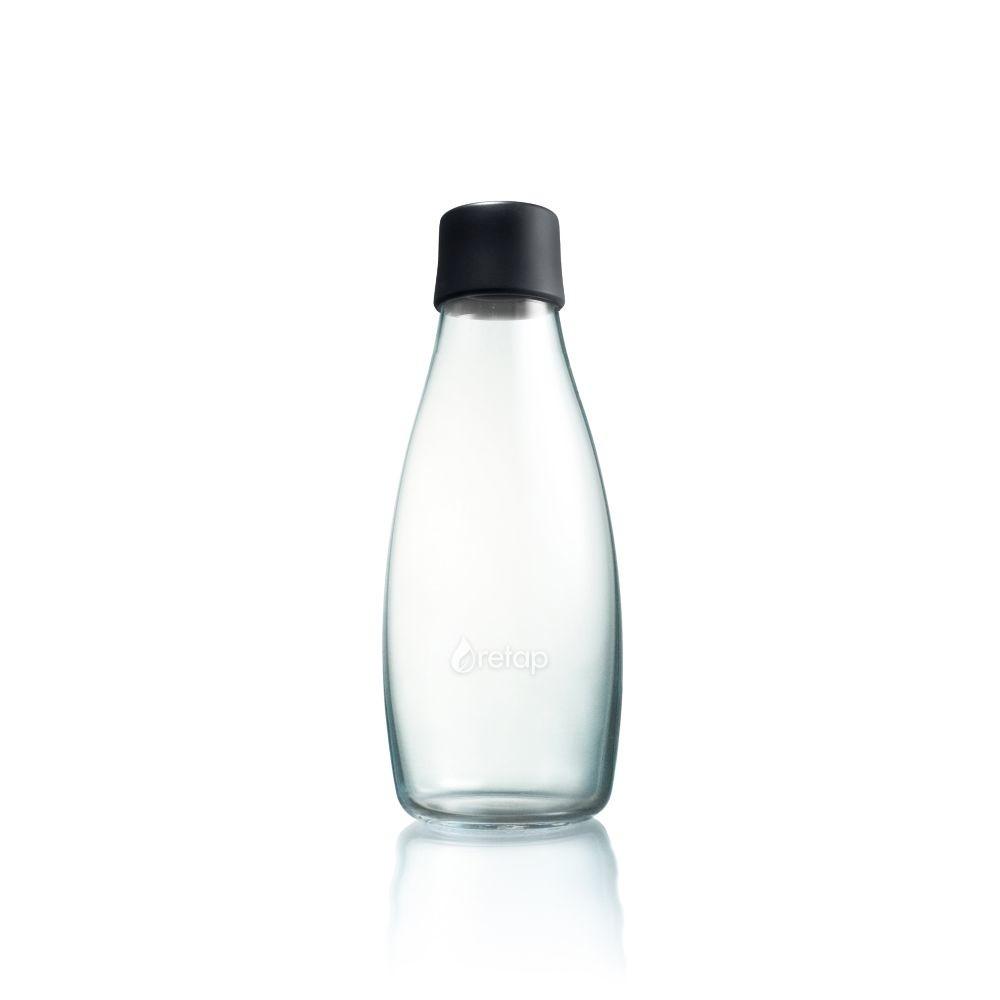 Čierna sklenená fľaša ReTap s doživotnou zárukou, 500ml