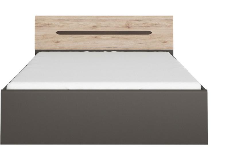 Manželská posteľ Elpasso LOZ/160   Farba: šedý wolfram / dub san remo svetlý