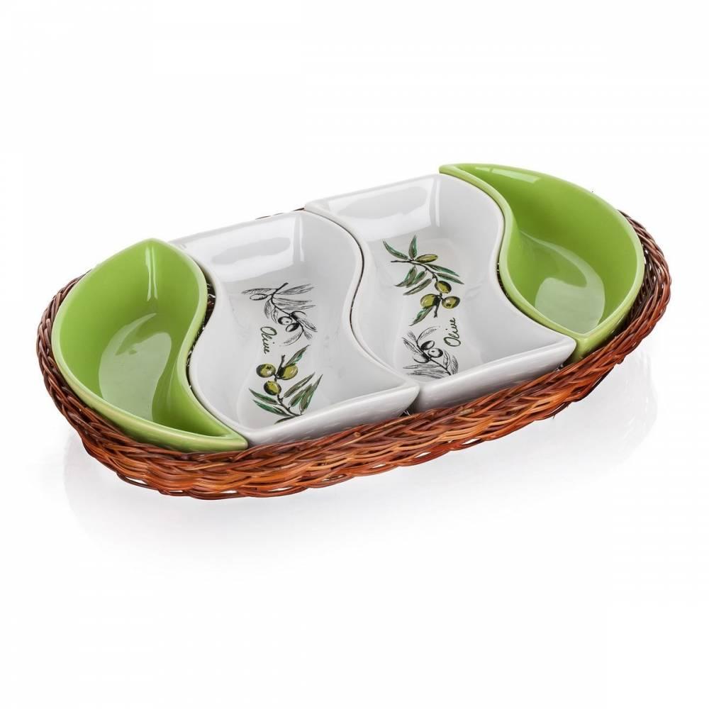 Banguet Olives Servírovacie misy v košíku 30,5 cm,