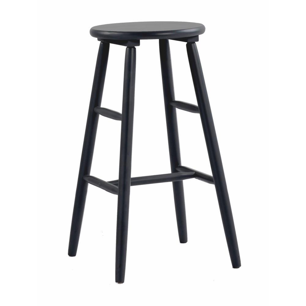 Čierna drevená barová stolička Folke Python, ⌀ 36 cm