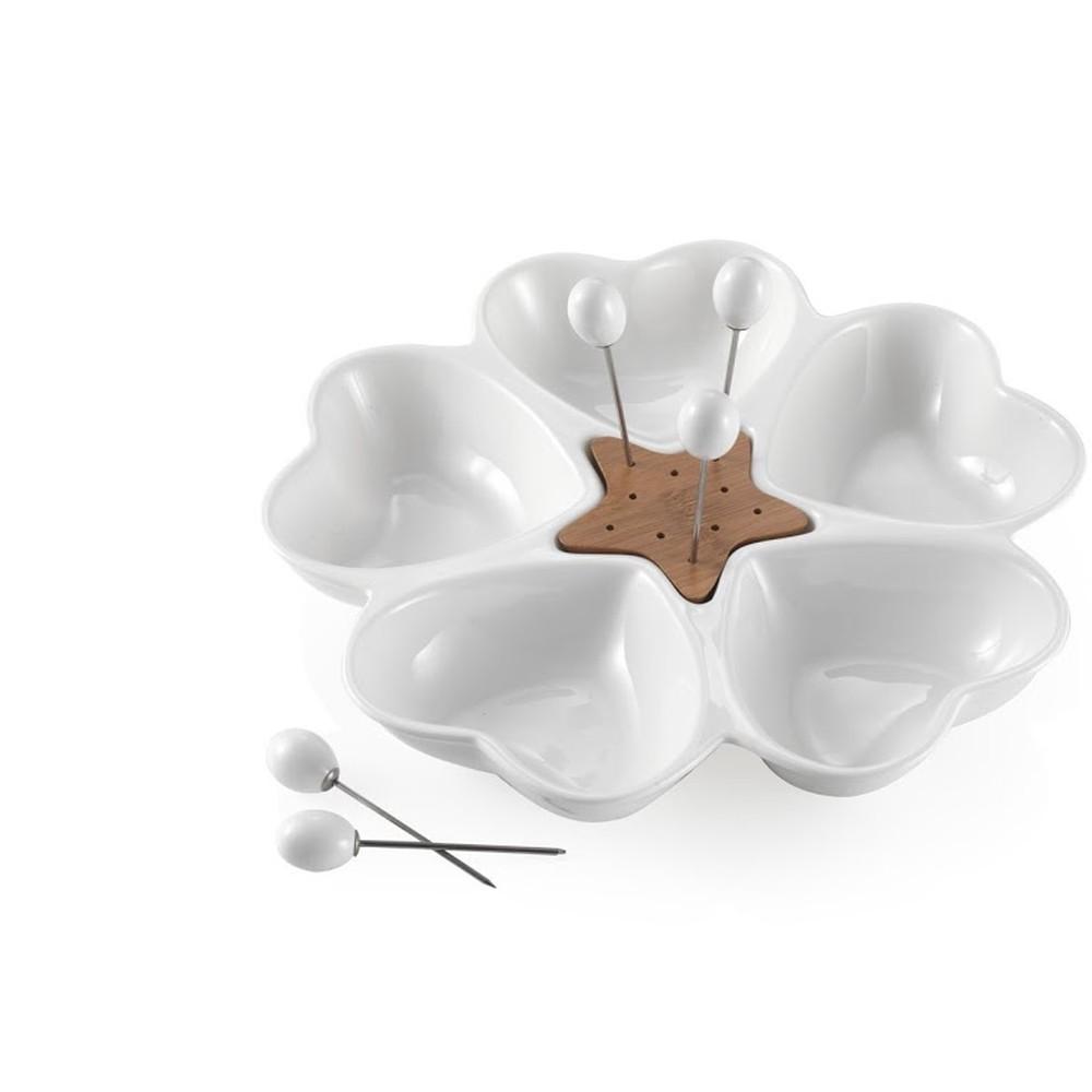 Servírovacia miska s 5 napichovadlami Brandani Cuori