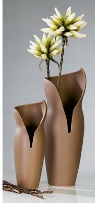 Váza FEMME L - hnedá