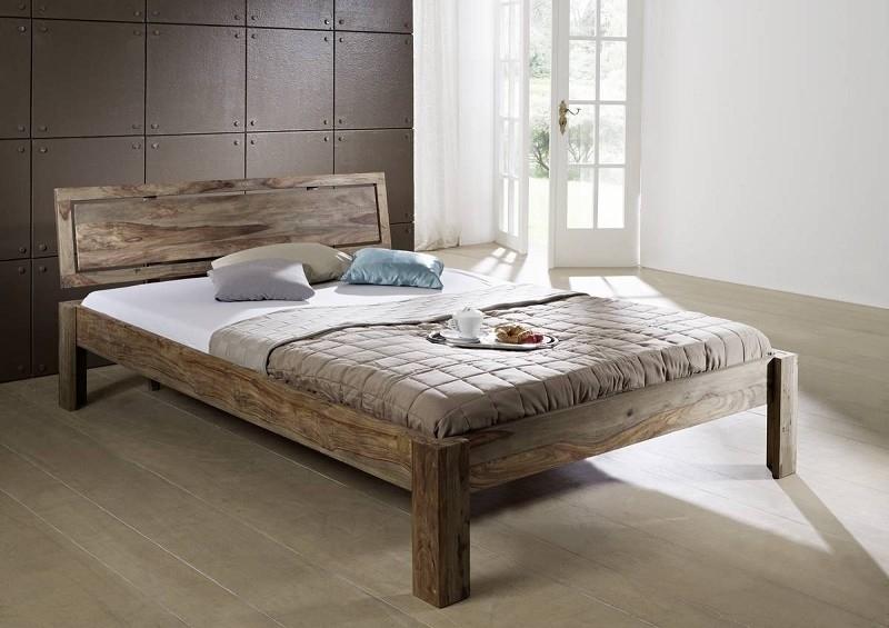 NATURE GREY #190 Sheesham posteľ 140x200, masívny palisander