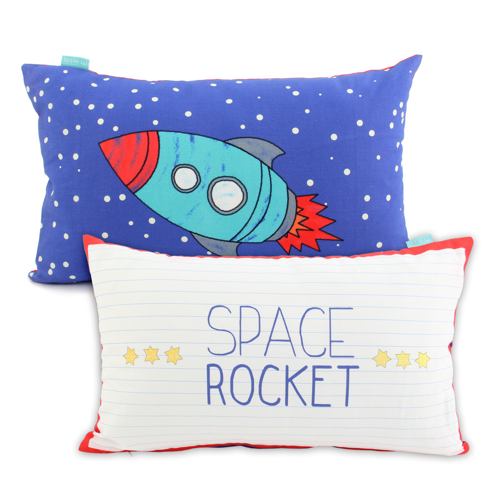 Obliečka na vankúš Mr. Fox Space Rocket, 50x30cm