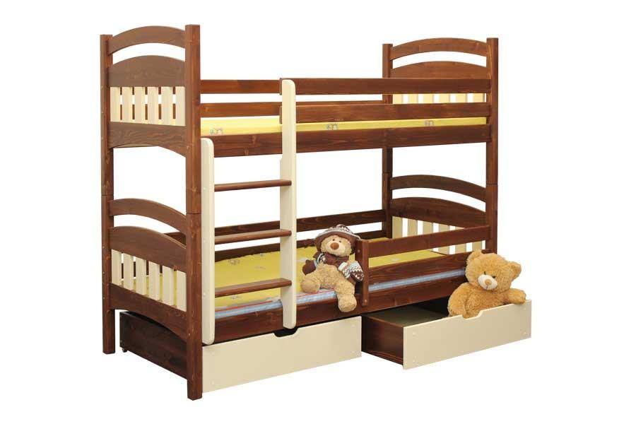 Bradop Poschodová posteľ Matýsek (základné prevedenie) B404-80x180