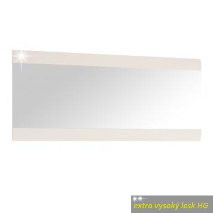 TEMPO KONDELA Zrkadlo 121, biele, extra vysoký lesk, LYNATET TYP 121