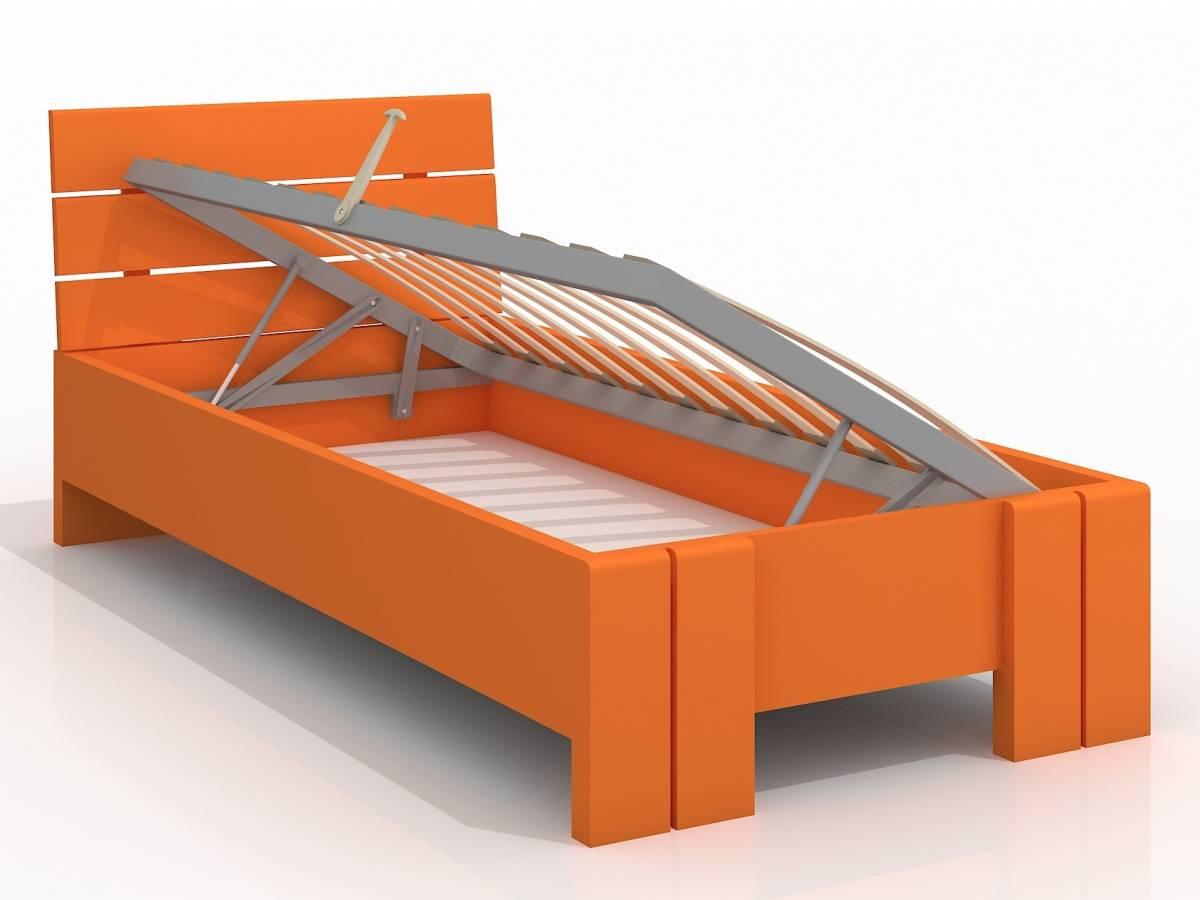 Jednolôžková posteľ 90 cm Naturlig Kids Tosen High BC (borovica) (s roštom)