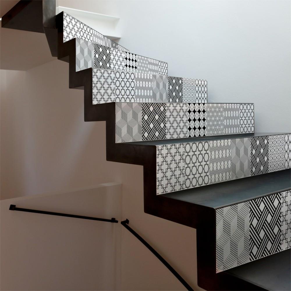 Sada 2 samolepiek na schody Ambiance Gerda, 15×105 cm