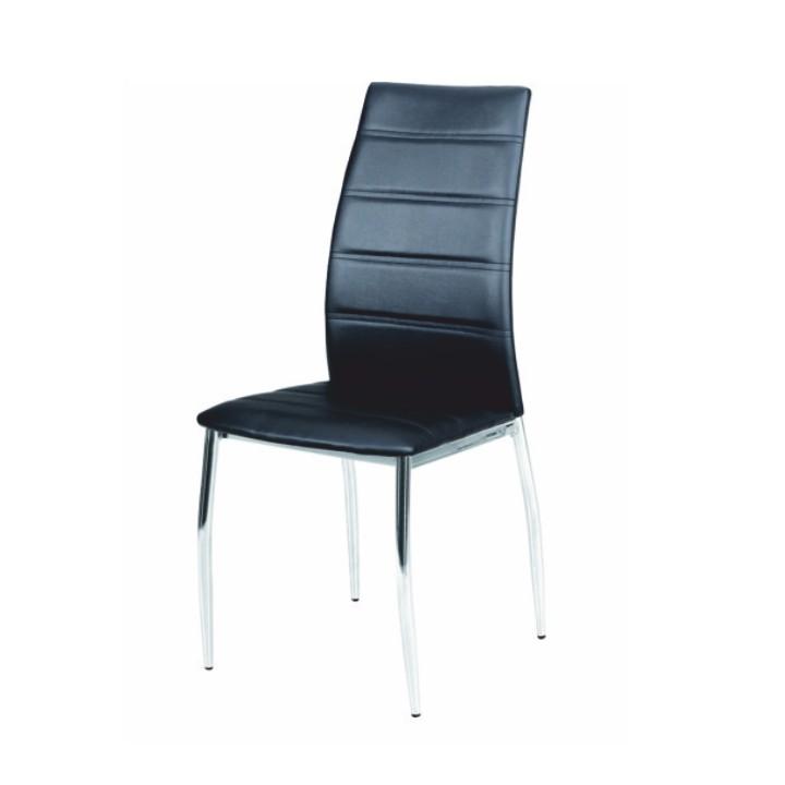 TEMPO KONDELA DELA jedálenská stolička - čierna / chróm