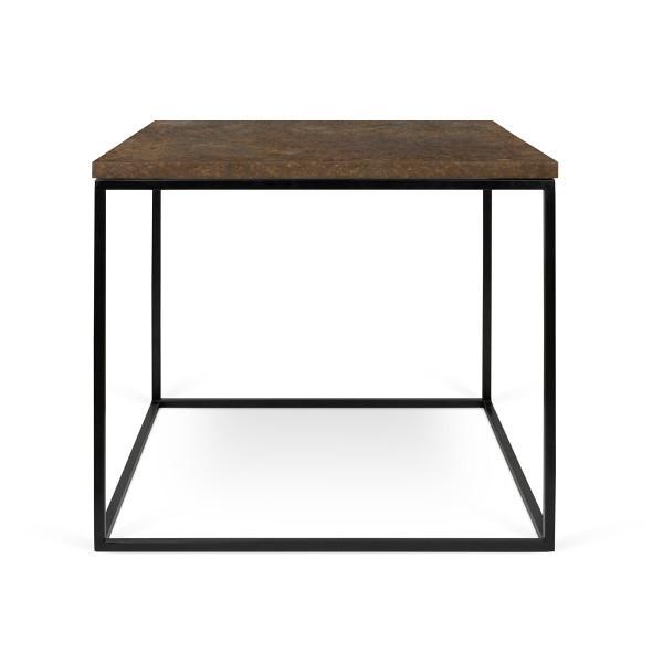 Hnedý konferenčný stolík s čiernymi nohami TemaHome Gleam, 50cm
