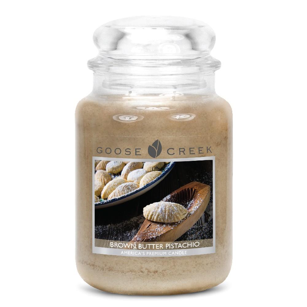 Vonná sviečka v sklenenej dóze Goose Creek Hnedé pistáciové maslo, 0,68 kg