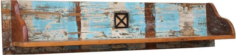 SPIRIT Nástenný regál #116 indické staré drevo, lakované