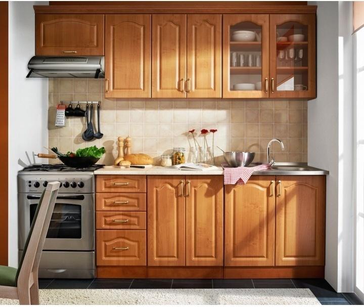 Kuchynská linka, 2,4m, jelša, LORA MDF