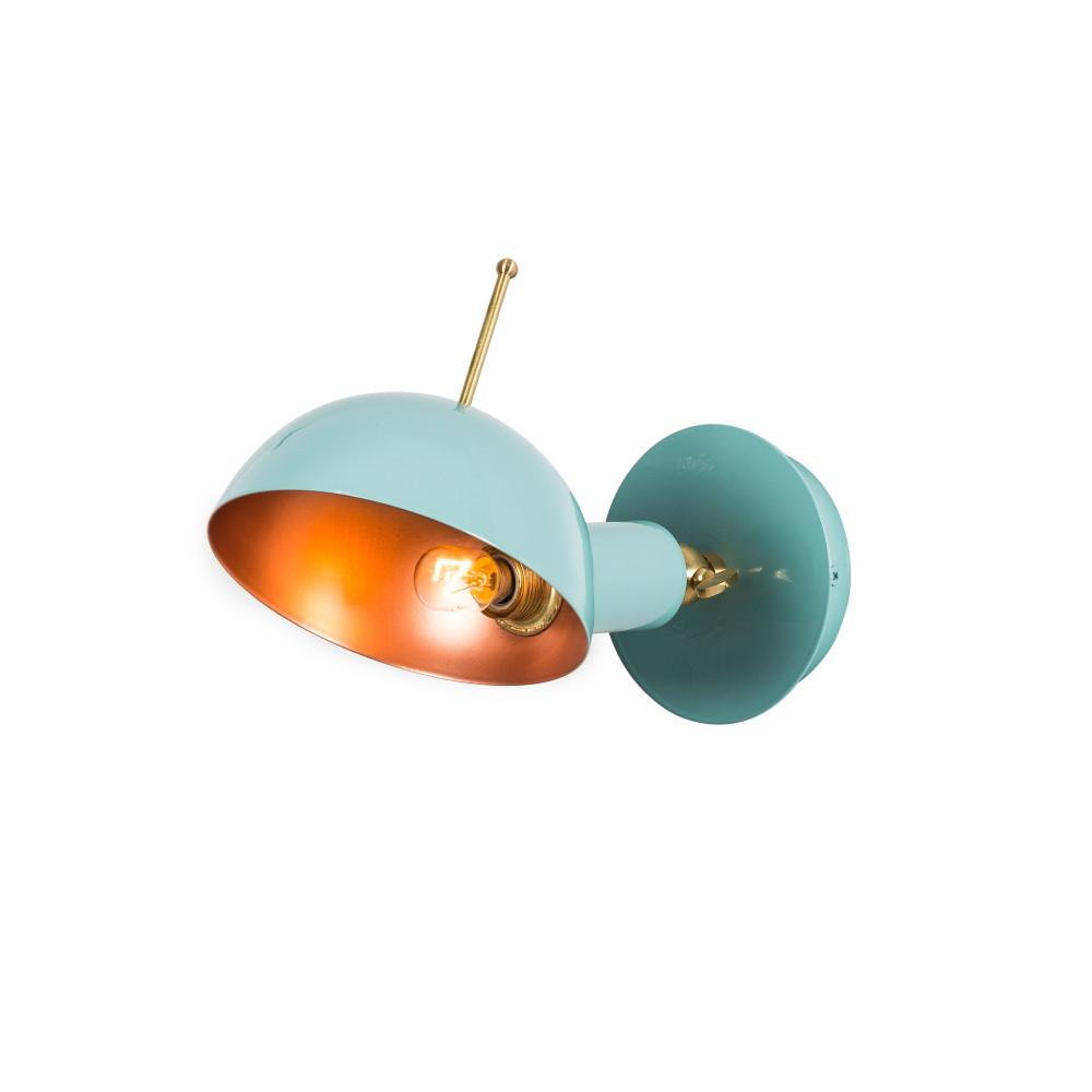 Svetlomodré nástenné svietidlo Oglio
