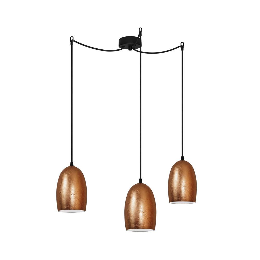 Trojité svetlo UME Elementary, copper/black/black