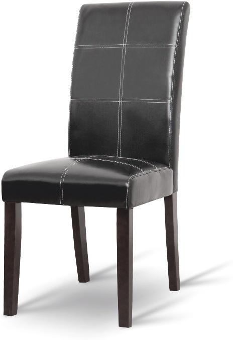 Jedálenská stolička, tmavý orech/ekokoža čierna, RORY