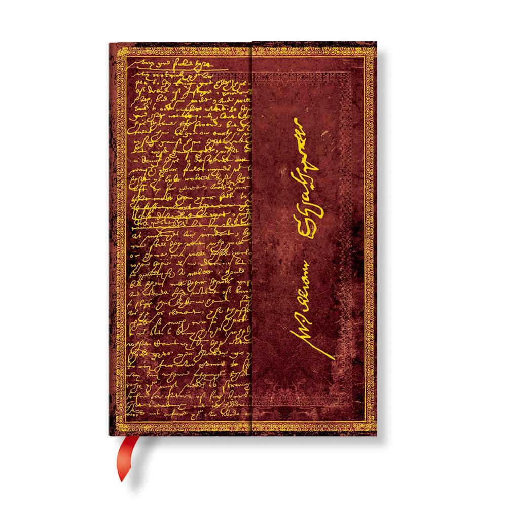Linkovaný zápisník s tvrdou väzbou Paperblanks Shakespeare, 10 x 14 cm